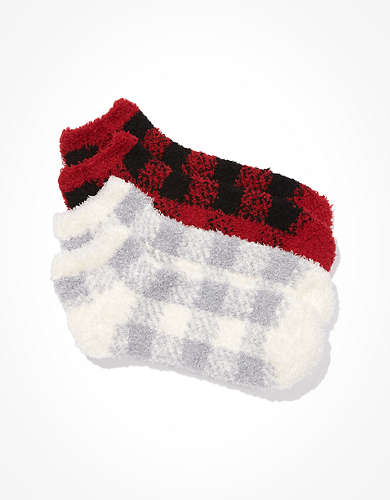 AE Plaid Ankle Socks 2-Pack
