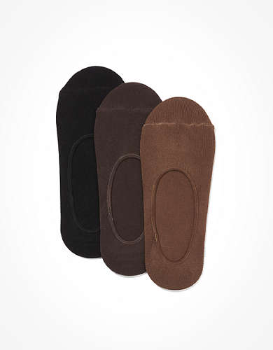 AE Skin Shades Microfiber No-Show Socks 3-Pack