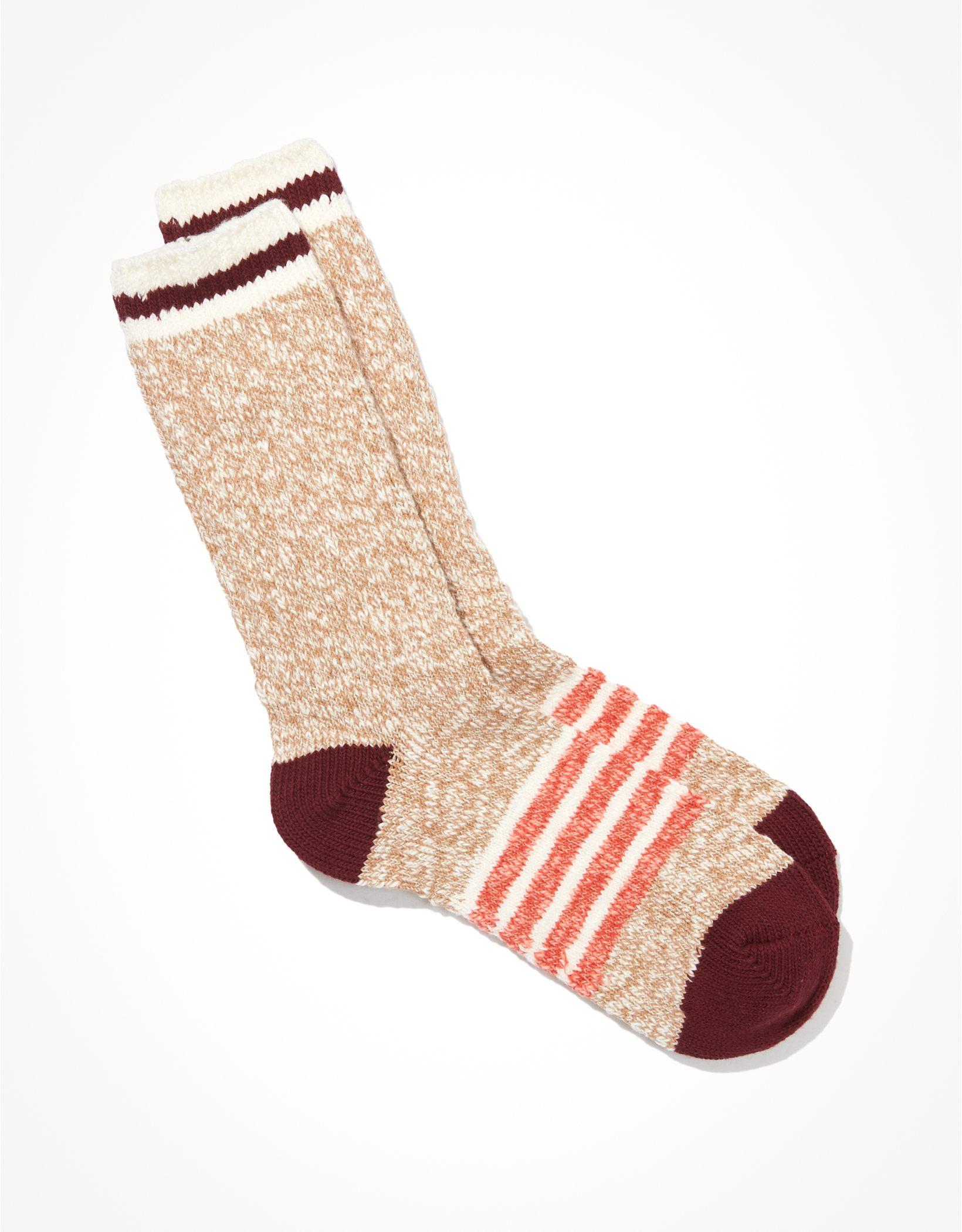 AE Striped Camp Dad Sock