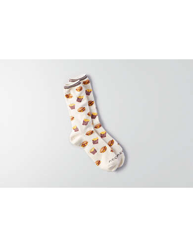 AEO Burger and Fries Crew Socks - Buy One Get One 50% Off