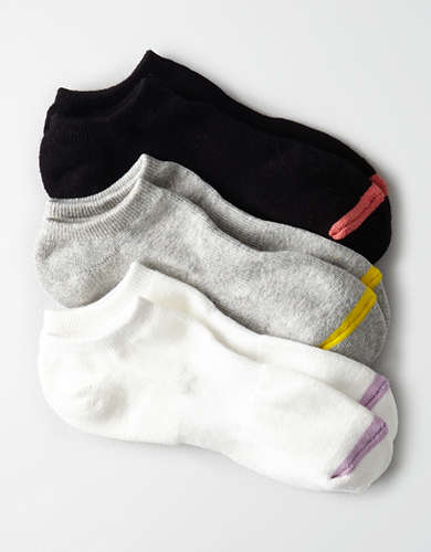 AEO Sporty Ankle Socks 3-Pack  -