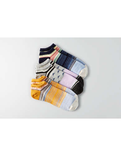 AEO Striped Shortie Socks 3-Pack  - Buy One Get One 50% Off