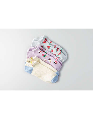 AEO Popsicle Shortie Socks 3-Pack  - Buy One Get One 50% Off