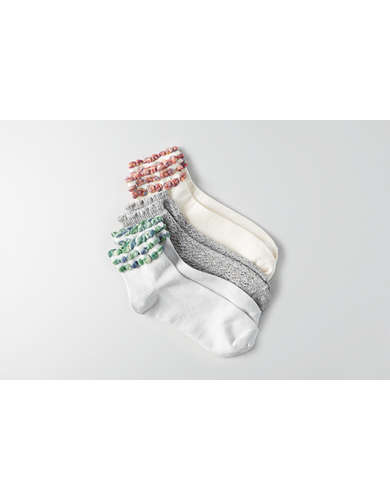 AEO Ruffled Ankle Socks 3-Pack  -