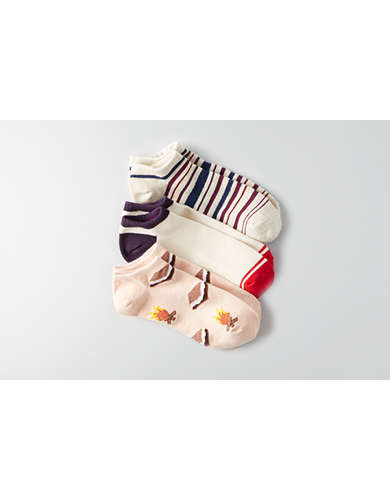 AEO S'mores Shortie Socks 3-Pack  - Buy One Get One 50% Off