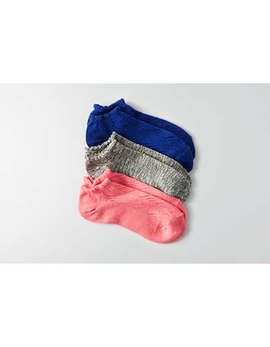AEO Pointelle Shortie Socks 3-Pack  - Buy One Get One 50% Off