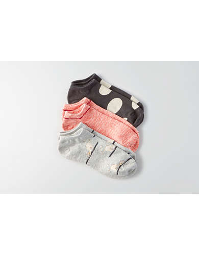 AEO Kitty Dot Shortie Socks 3-Pack - Buy One Get One 50% Off