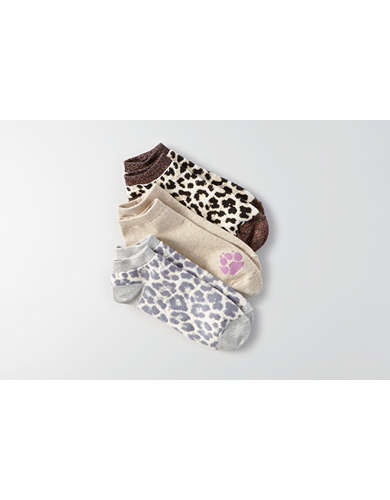 AEO Leopard Shortie Socks 3-Pack - Buy One Get One 50% Off