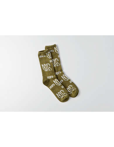 AEO Graffiti Crew Socks - Buy One Get One 50% Off