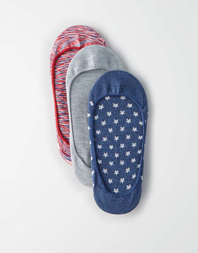 AEO Patriotic No Show Sock 3Pk -