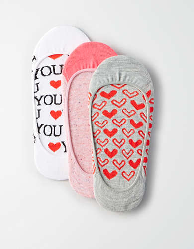 AEO Heart No-Show Sock 3-Pack - Buy One Get One 50% Off
