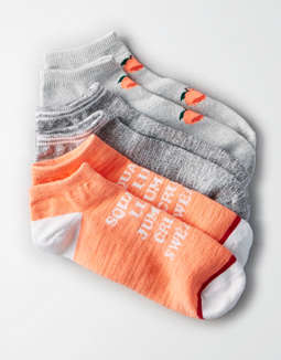 Aeo Peach Shortie Sock 3 Pack by American Eagle Outfitters
