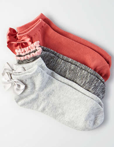 AEO Bow Ankle Sock 3-Pack -