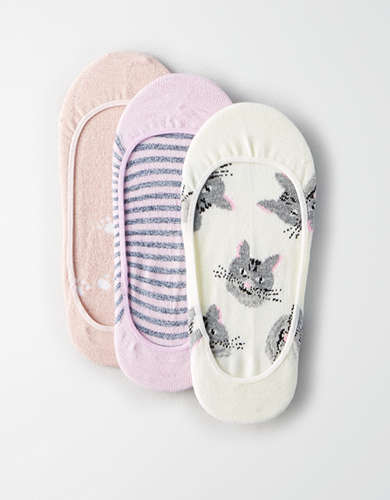 AEO Kitty No-Show Sock 3-Pack -