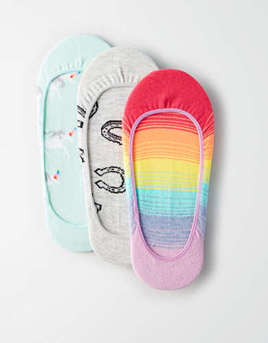 AEO Rainbow No-Show Sock 3-Pack - Buy One Get One 50% Off