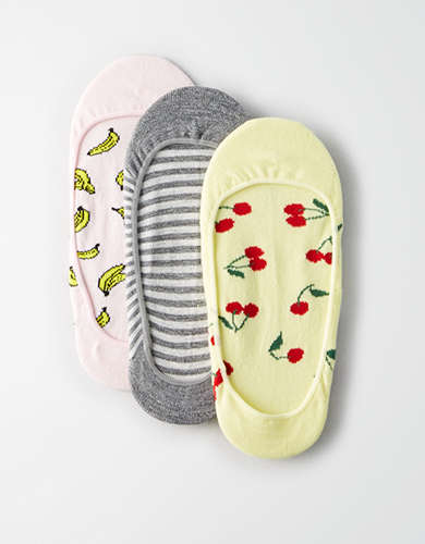 AEO Cherry No-Show Sock 3-Pack - Buy One Get One 50% Off