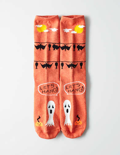 AEO Let's Hang Bat Crew Sock -