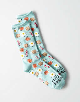 AEO NYC Brunch Crew Sock