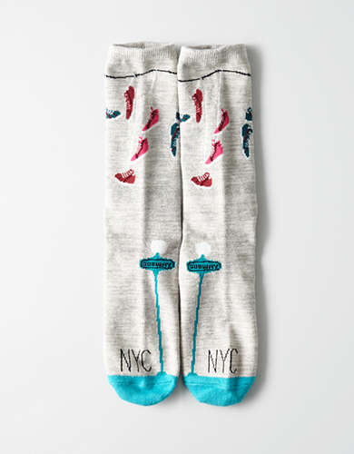 AEO NYC Sneakers Crew Sock -