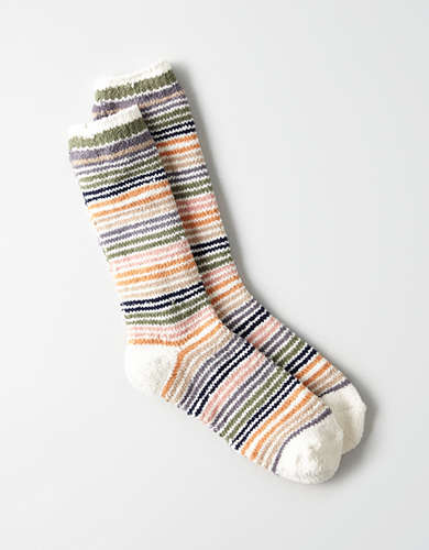 AEO Chenille Striped Crew Sock -