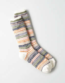Aeo Chenille Striped Crew Sock by American Eagle Outfitters