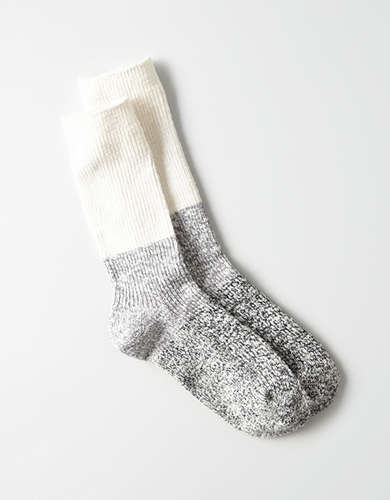 AEO Colorblocked Cable Crew Sock -