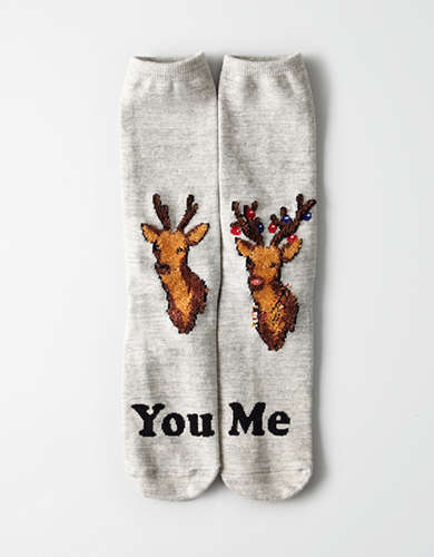 AEO You Vs Me Crew Sock -
