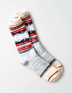 Aeo Aztec Patterned Crew Sock by American Eagle Outfitters
