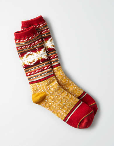 AEO Aztec Patterned Crew Sock -