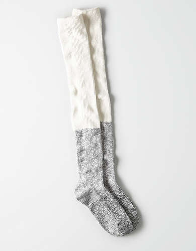 AEO Colorblock Cable Over the Knee Sock -