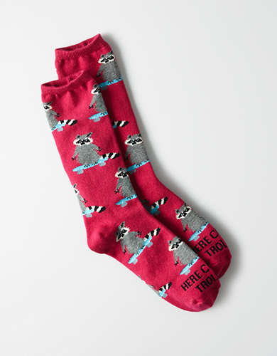 AEO Raccoon Crew Sock -