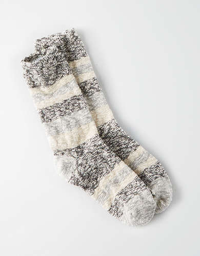 AEO Marled Color Block Crew Sock -