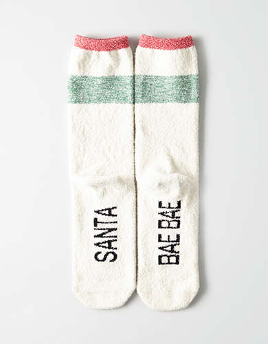 AEO Cozy Foot Graphic Crew Sock -