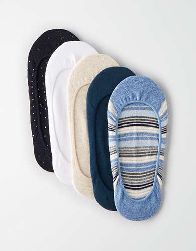 AEO Striped No Show Sock 5-Pack -
