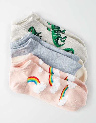 AEO Dino Ankle Sock 3-Pack -