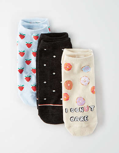 AEO Donut Ankle Sock 3-Pack -