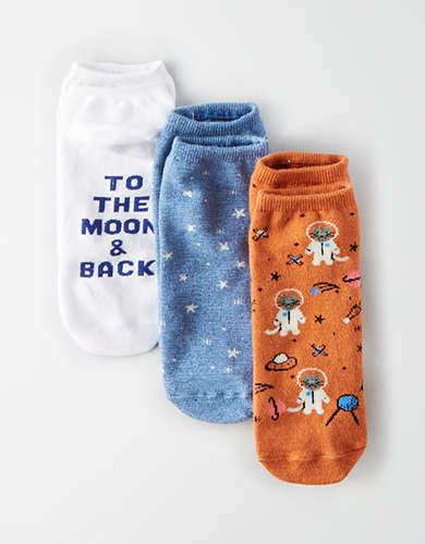 AEO Space Cat Ankle Sock 3-Pack -