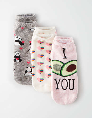 AEO Avocado Ankle Sock 3-Pack -