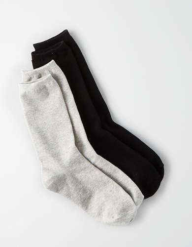 AEO Basic Crew Sock 2-Pack -