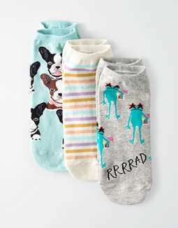 AEO Animal Ankle Socks 3-Pack