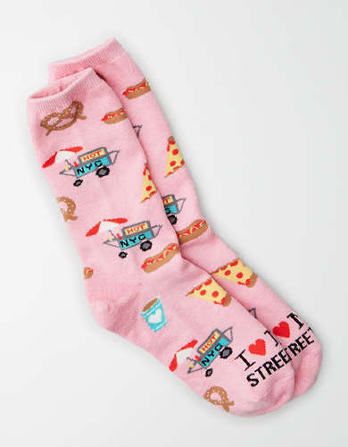 AEO NYC Street Food Crew Sock