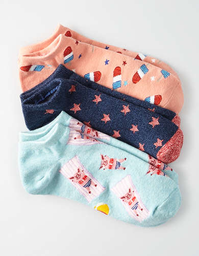 AEO Americana Ankle Socks 3-Pack -