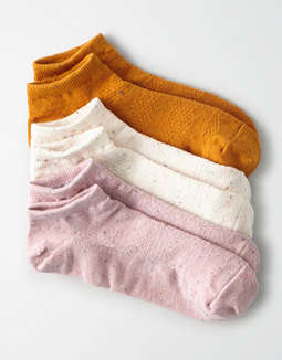 AEO Pointelle Ankle Socks 3-Pack