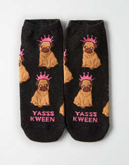AEO Pug Ankle Sock