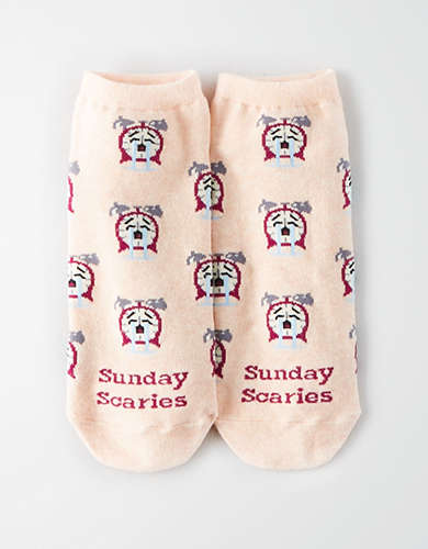 AEO Sunday Scaries Ankle Sock Single -