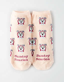 AEO Sunday Scaries Ankle Sock Single