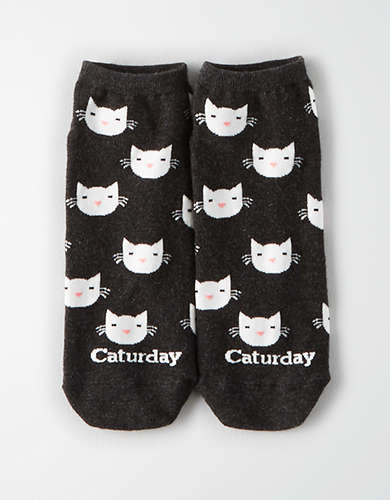 AEO Caturday Ankle Sock Single -
