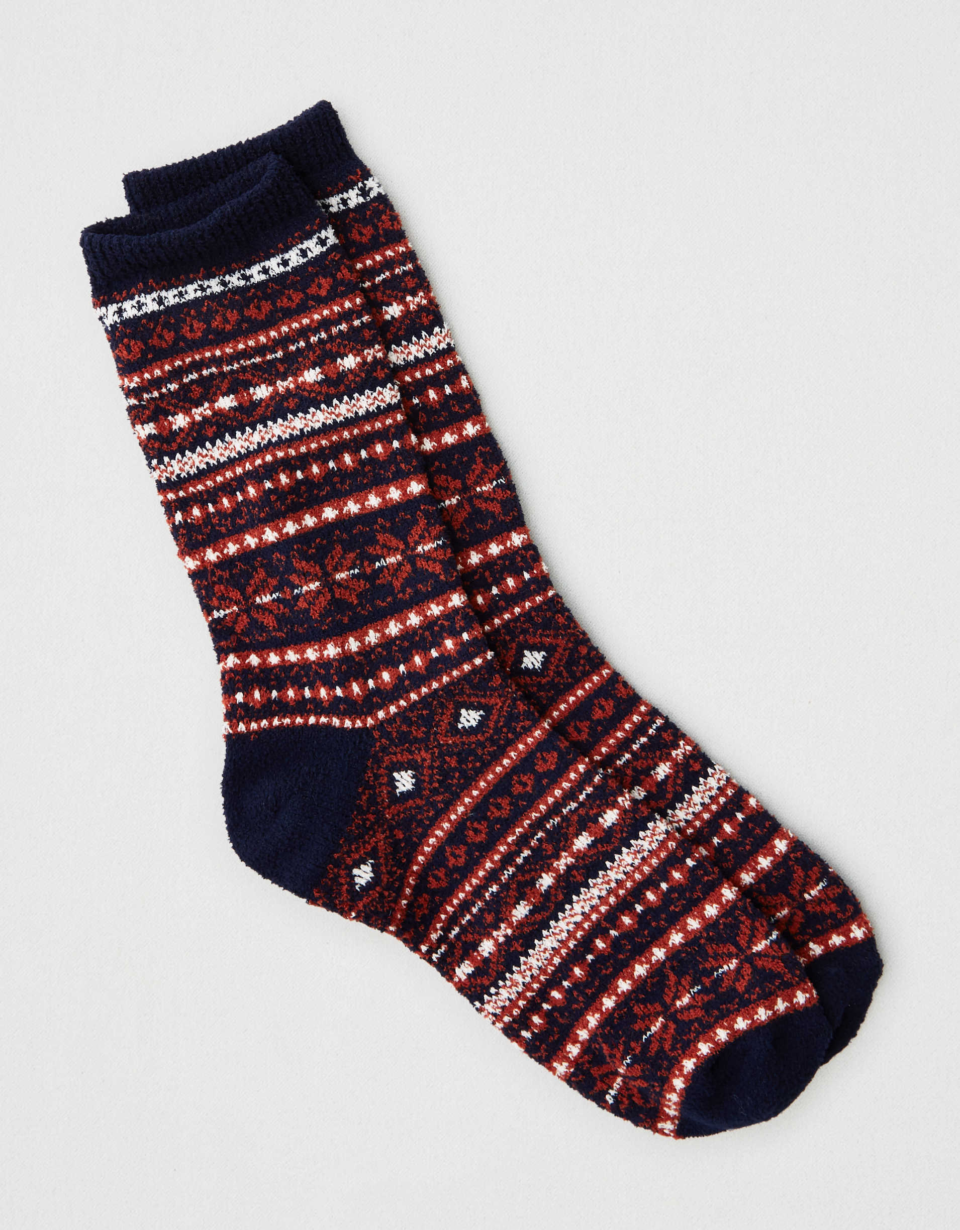 AEO Winter Fairisle Crew Sock