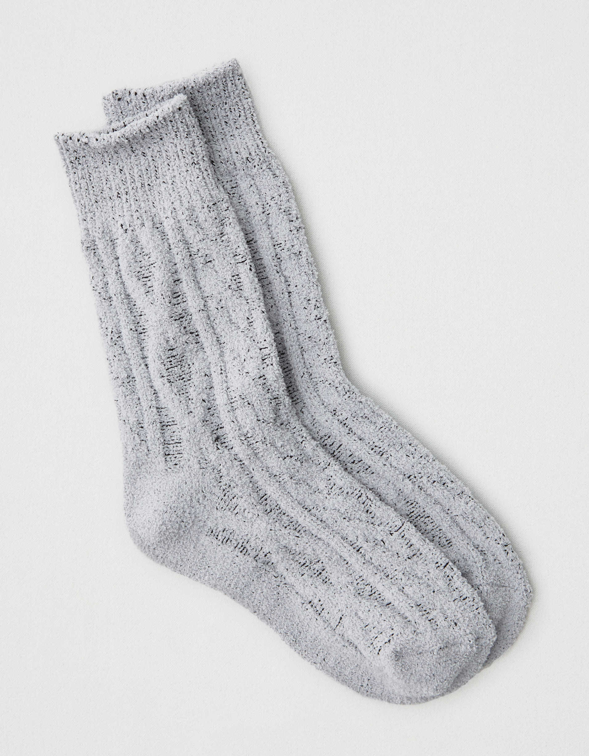 AEO Fluffy Cable Knit Crew Sock