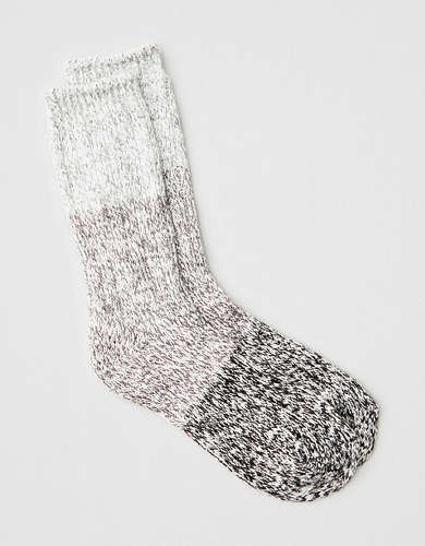 AEO Marled Color Block Crew Sock
